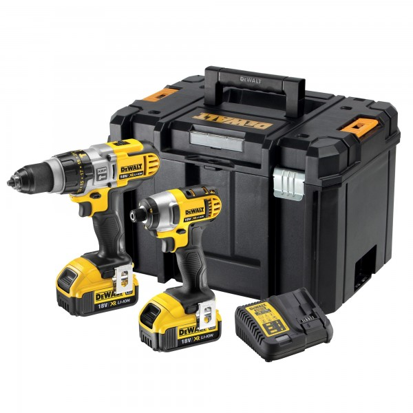 DEWALT DCK290M2T 18v DCD985/DCF885 Twin Pack 2x4ah Li-ion Batteries