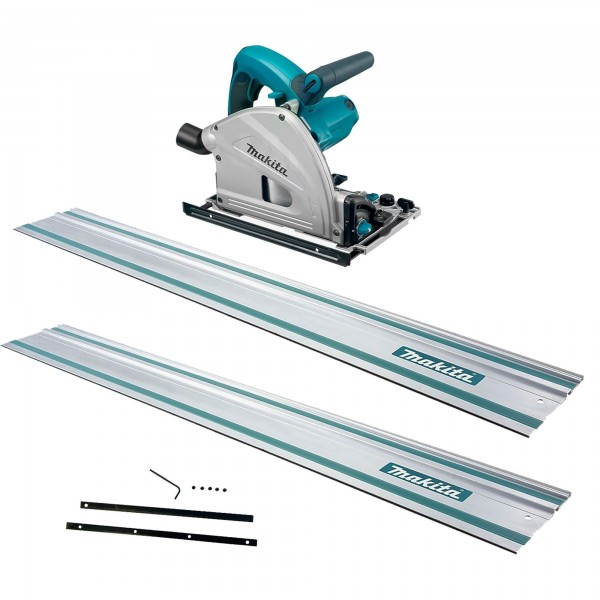 MAKITA SP6000J Plunge Saw + 2x1.5m Rails + Joining Bar
