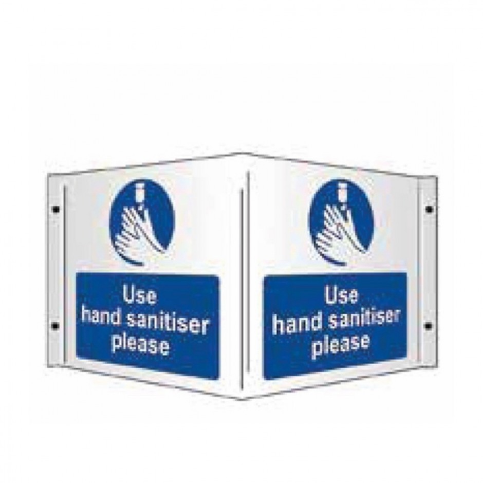 Use Hand Sanitiser Please (3D Projecting) 1mm Rigid PVC 430 x 200mm