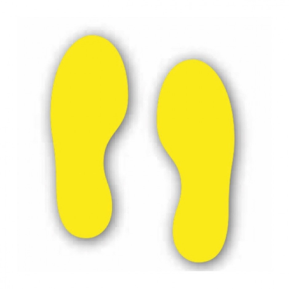 Foot Print Pair (Floor Graphic) Sheet size 275 x 235mm 1x Left 1x Right
