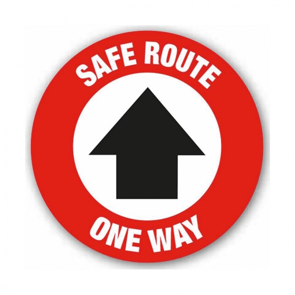 Safe Route One Way Arrow (Floor Graphic) 200mm diameter