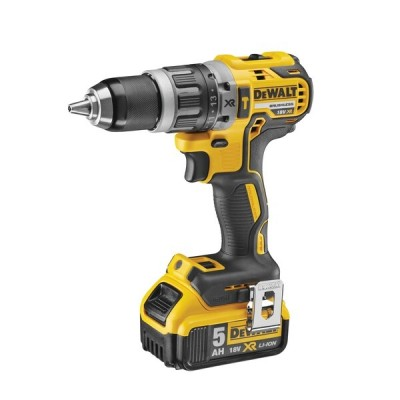 DEWALT DCD796P2 18v Brushless Combi Drill c/w 2 x 5ah Li-Ion Battery