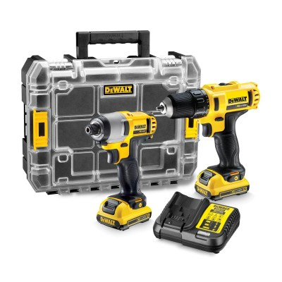 DEWALT DCK211D2T 12v Drill Driver and Impact Driver Kit with 2x2ah Batteries