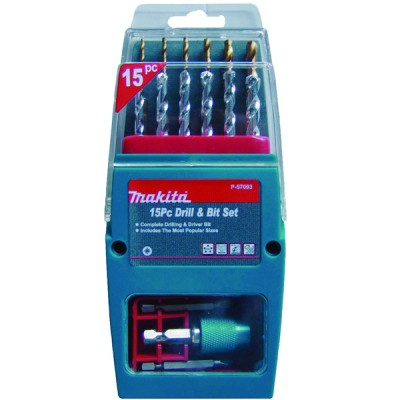Makita 15 Piece Drill And Bit Set