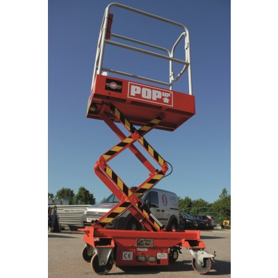 Battery Operated 1.6M Push Around Scissor Lift