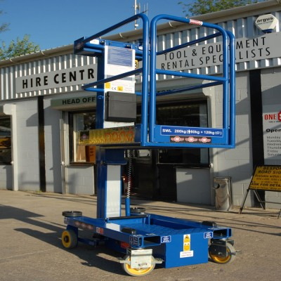 Battery Operated 2.5M Push Around Scissor Lift