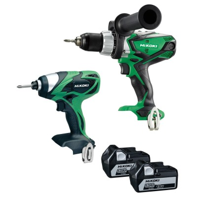 HIKOKI KC18DKL-JBZ 18v Combi & Impact Twin Pack with 2x5ah batteries