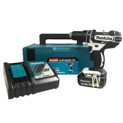 MAKITA DHP482M1JW 18v Combi Drill with 1x4ah Battery