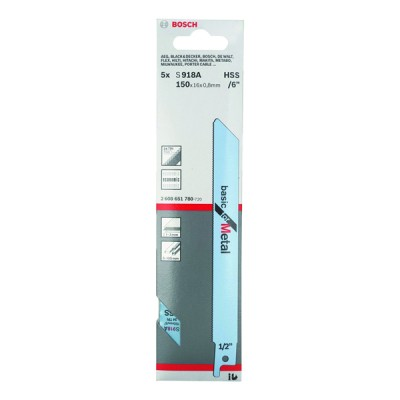 Bosch Sabre Saw Metal Blade - 150mm, Teeth Per Inch - 24