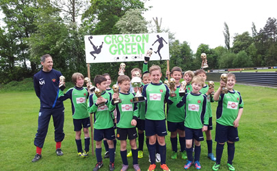 One Stop Hire sponsored Croston Green JFC celebrate memorable double!