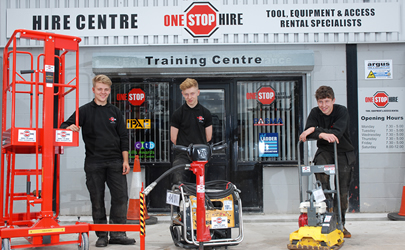 One Stop Hire Take On 3 New Apprentices