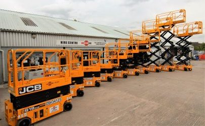One Stop Hire Invests in 10 New 30 Foot JCB Electric Scissor Lifts